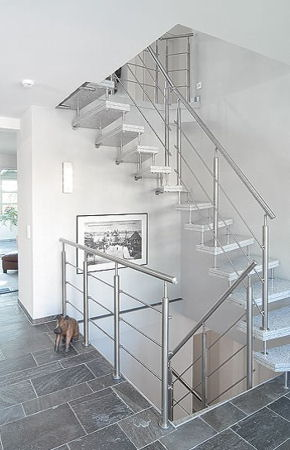 Možnosti realizace vybraných produktů - zábradlí na schodiště